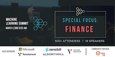 Machine Learning in Finance Summit biglietti