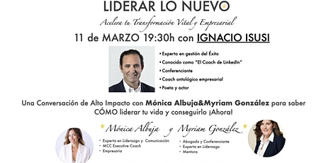 Conversación de Alto Impacto Liderar Lo Nuevo Ignacio Isusi boletos