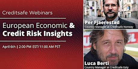 Webinar: European Economic & Credit Risk Insights tickets