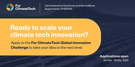 Introduction to For ClimateTech's Global Innovation Challenge tickets