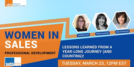 Women in Sales: Lessons Learned from a Year-Long Journey (and Counting)! tickets