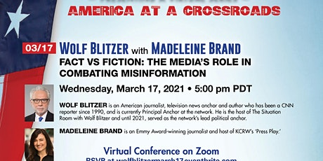 Wolf Blitzer:Fact vs Fiction: The Media's Role in Combating Misinformation tickets