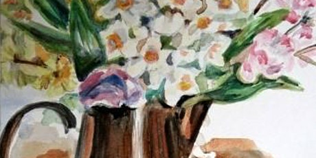 Spring Flowers Watercolor Painting tickets