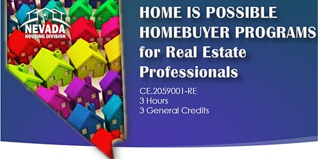 Home Is Possible Homebuyer Programs CE Class billets