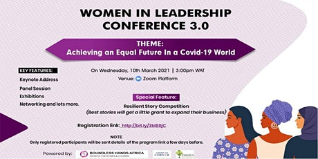 """""""Women in Leadership: Achieving an Equal future in a Covid-19 World"""" tickets"""