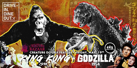 King Kong (1933) + Godzilla (1954) - Drive-In at Mess Hall Market tickets