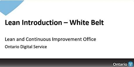 September 30, 2021 - Lean White Belt Training tickets
