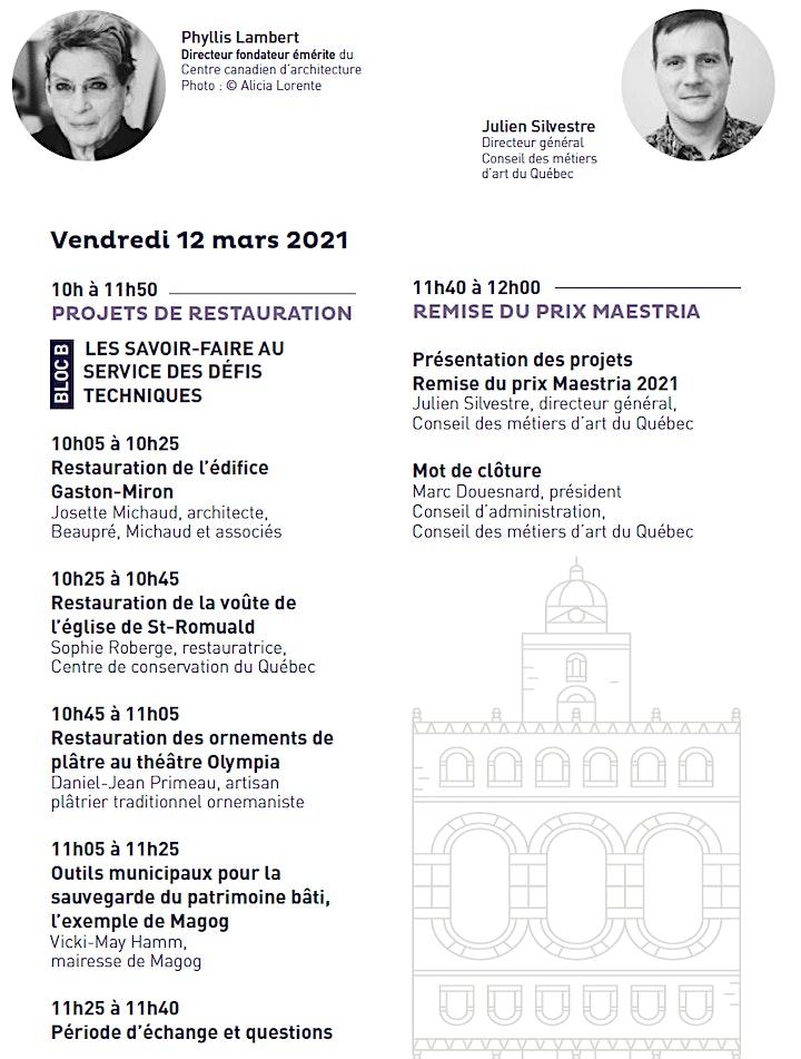 Image de 5e édition | Les Rendez-vous Maestria 2021 | Événement virtuel