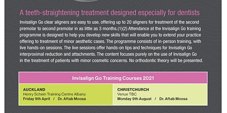 Invisalign go Training course Christchurch tickets