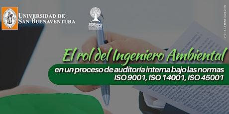 El rol del ingeniero ambiental en un proceso de auditoria interna boletos