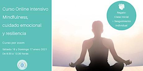 Curso intensivo  Mindfulness, cuidado emocional y resiliencia. boletos