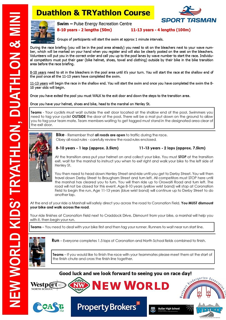 New World Kids' TRYathlon, Duathlon and Mini image