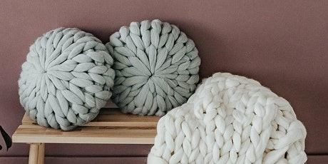 Teen and Adult Hand Knit Chunky Pouf Pillow Workshop tickets