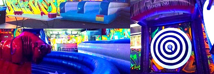 PLAY ZONE! Mechanical Bull, Drinks, Axe Throwing, Jumping Castle, FUN!!! image