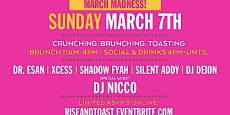 RISE AND TOAST | SPRING BREAK 21 | SUNDAY BRUNCH | THE URBAN tickets