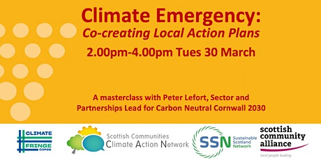 Climate Emergency: Co-creating Local Action Plans 2.00-4.00pm Tues 30 March tickets