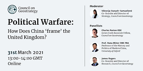 Political Warfare: How Does China 'frame' the United Kingdom? tickets