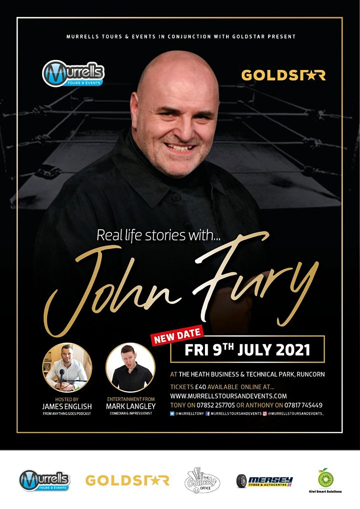 Real Life Stories.... an evening with JOHN FURY!! image
