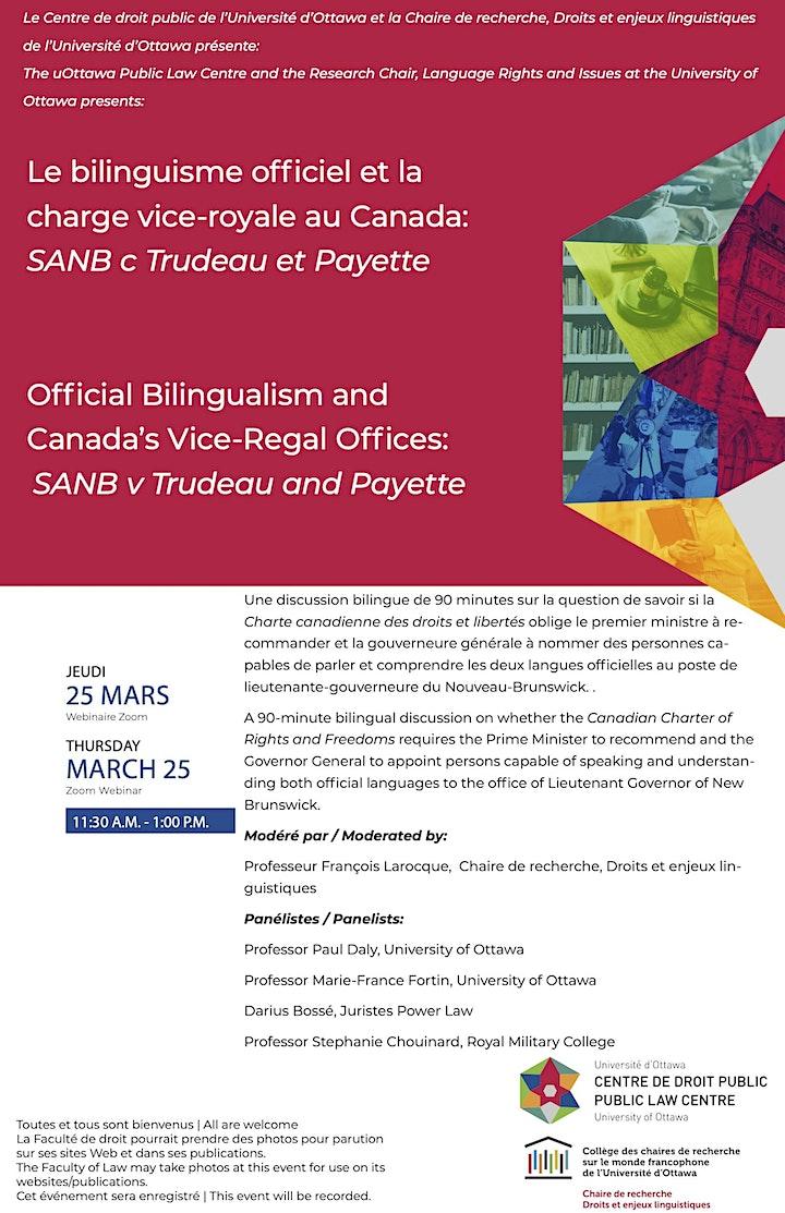 Le bilinguisme officiel et la charge vice-royale au Canada image