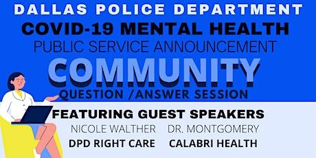 Covid-19 Mental Health Public Service Announcement tickets