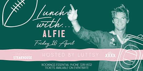 Lunch with Alfie tickets