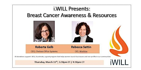 i.WILL Presents:  Important Resources - Breast Cancer Awareness entradas