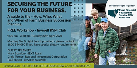 Securing the future for your business - INVERELL tickets