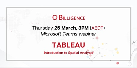 Introduction to Spatial Analysis in Tableau tickets