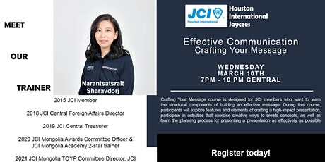 JCI Effective Communication Series Part II: Crafting Your Message Exclusive tickets