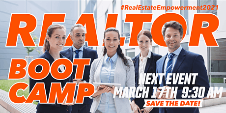 Copy of Realtor BOOT CAMP tickets