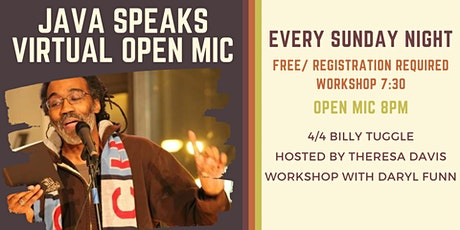 Java Speaks Virtual Open Mic featuring Billy Tuggle tickets