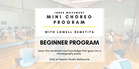 Mini Choreo Program - Beginner tickets