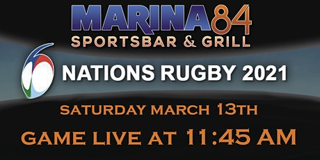 Watch Rugby 6 Nations at Marina84 tickets