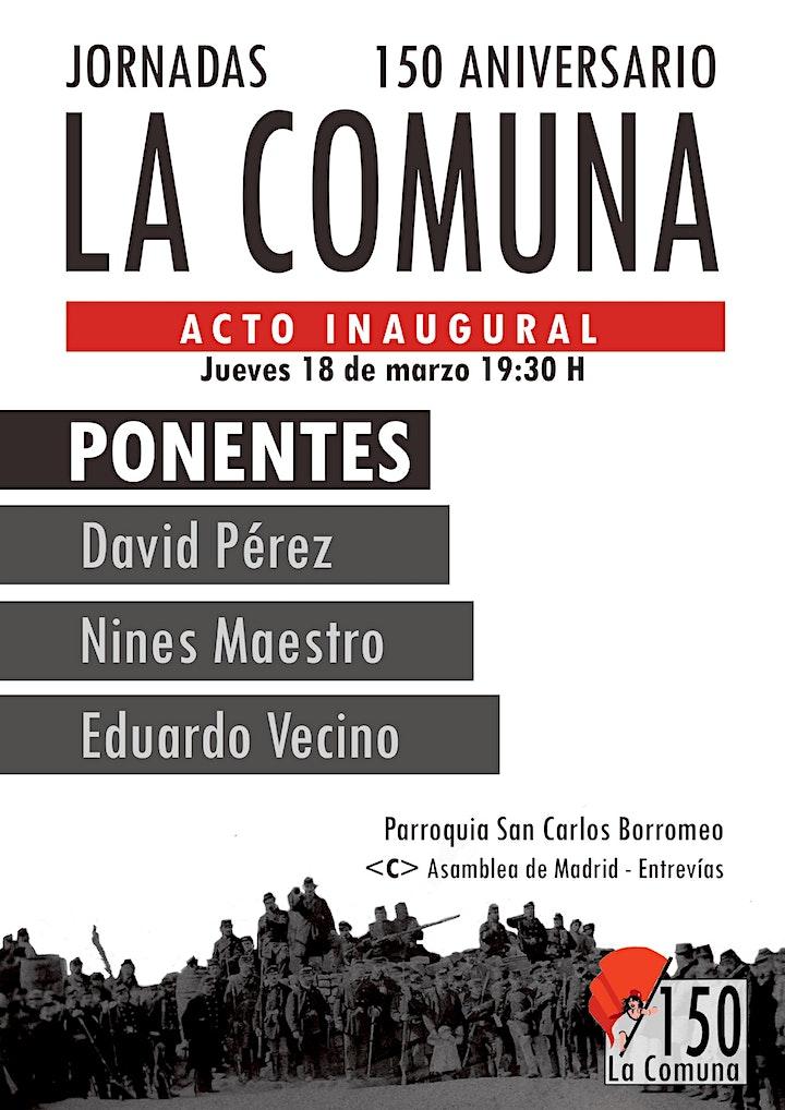 Imagen de JORNADAS 150 ANIVERSARIO DE LA COMUNA DE PARÍS (ACTO INAUGURAL)