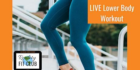 Wednesdays 10am PST LIVE Legs, Legs, Legs: Lower Body Strength Home Workout tickets