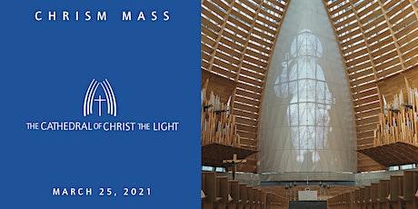 Chrism Mass 2021 tickets