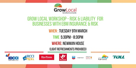 Grow Local Workshop Newman - Insurance & Liability Risk for Businesses tickets