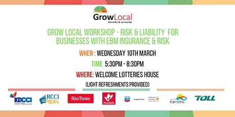 Grow Local Workshop - Insurance & Liability Risk for Businesses with EBM tickets