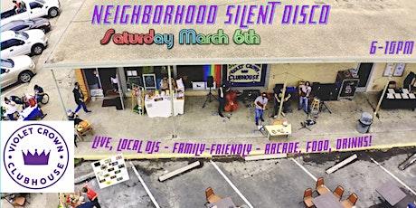 Violet Crown Neighborhood Disco - Local DJs, Arcade, Food, Drink & Fun! tickets