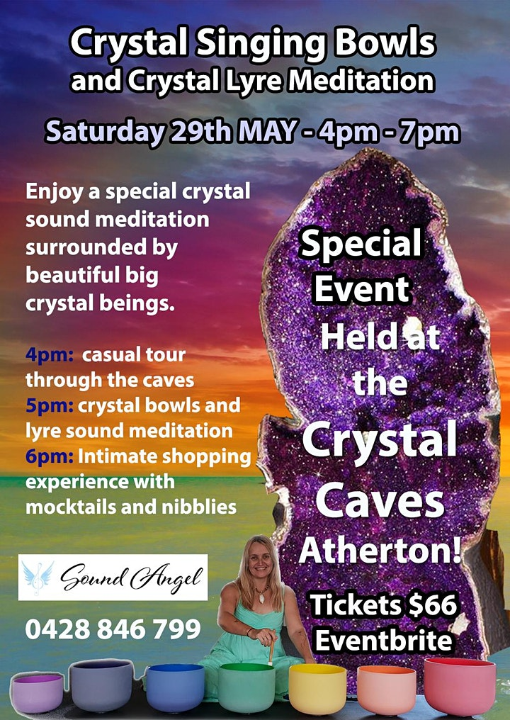 Crystal Bowls and Lyre in the Crystal Caves image