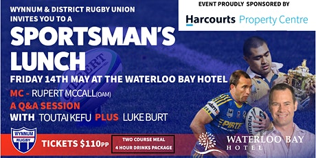 Wynnum & District Rugby Union Annual Sportsman's Lunch tickets