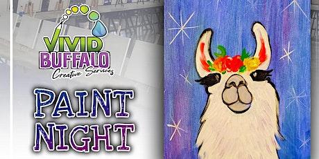 Llama Mama! Acrylic Paint Night at RiverWorks: tickets