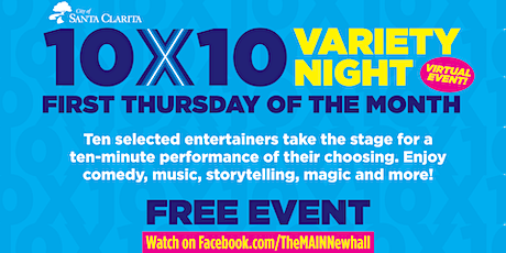 10 By 10 Variety Night tickets