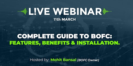 BOFC Webinar 7: A Complete Guide To BOFC: Features, Benefits & Installation tickets