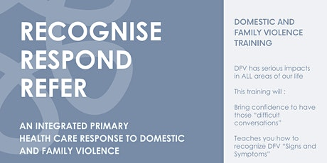 Recognise, Respond and Refer (Domestic and Family Violence) tickets