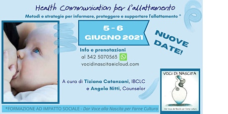 NUOVE DATE di HEALTH COMMUNICATION - NEL SOSTEGNO ALL'ALLATTAMENTO tickets