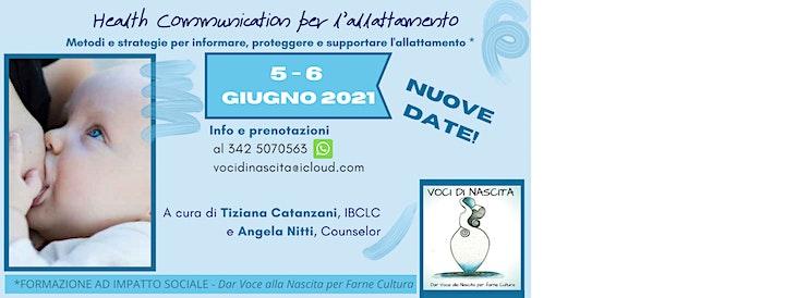 Immagine NUOVE DATE di HEALTH COMMUNICATION - NEL SOSTEGNO ALL'ALLATTAMENTO
