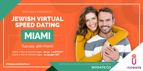 Isodate's Miami Jewish Virtual Speed Dating - Swipe Less, Date More tickets