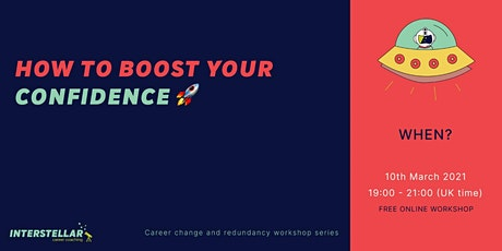 Free online workshop: How to boost your confidence Tickets