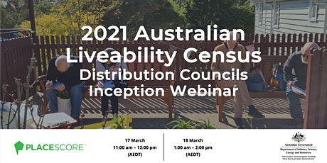 2021 Australian Liveability Census: Distribution Councils Inception Webinar bilhetes